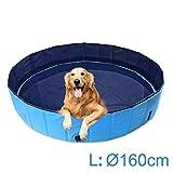 AMIGOB Hundepool Doggy Pool Swimmingpool Badewanne Pool Hundepool Ø160*30cm Schwimmbecken Planschbecken