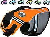 Vivaglory Neuartige Sport Style Ripstop Haustier Hunde-Schwimmweste mit überlegenem Auftrieb und Rettungsgriff