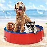 xiaohan Hundebadewanne, für Katzen und Welpen, tragbar, Faltbar, robust, PVC