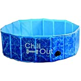 All for Paws Hundepool - Chill Out Splash & Fun- Dog Pool Hundeswimmingpool Hunde Pool Swimmingpool S bis XL -EXTRA STABIL-