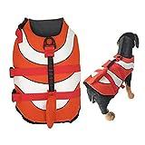 Olgaa Hundeschwimmweste für den Sommer, Schwimmweste mit hervorragendem Auftrieb und Rettungsgriff für Pool, Bootfahren oder Surfen