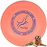 Demason Hundefrisbee Frisbee aus Kautschuk Intelligenzspielzeug Naturkautschuk Ø 23cm Wasserspielzeug Schwimmspielzeug für kleine und mittelgroße Hunde (Orange)