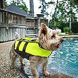 Namsan Hundeschwimmweste Rettungswesten Schwimmweste für Kleine Hunde-S,Grün
