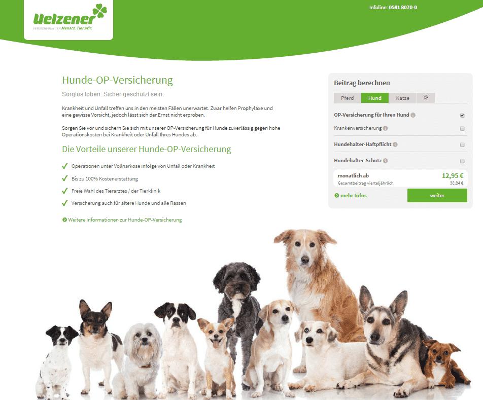 Hunde OP Versicherung Uelzener